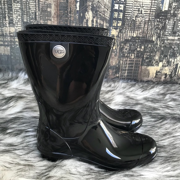 d401375253f ✨🎄 Women's UGG Sienna Mid Calf Rain Boot in Black
